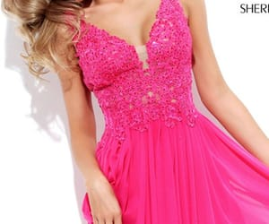 chiffon dresses, homecoming 2017, and sherri hill fuchsia image