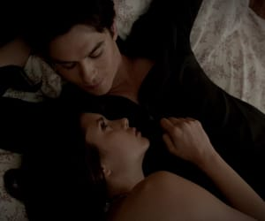 couple, damon, and thevampirediaries image