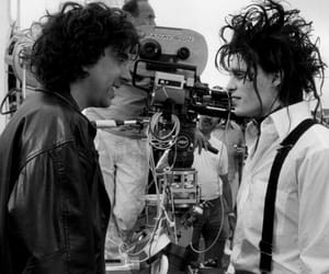 johnny depp, tim burton, and edward scissorhands image