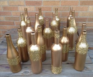 bottles, glitter, and wedding image