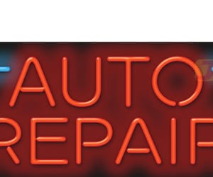 car neon signs, automobile signs, and garage signs image