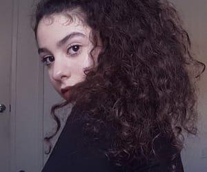 black, lighting, and makeup image