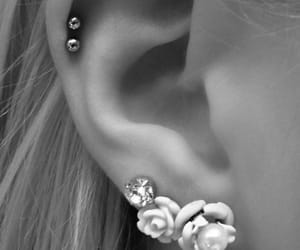piercing, cute, and ear image