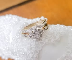 diamonds, wedding ring, and gold image