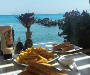 beach, food, and fries image