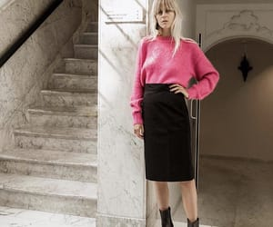 boots, fall, and pencil skirt image