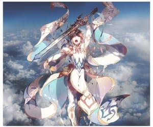 art, boy, and sky image