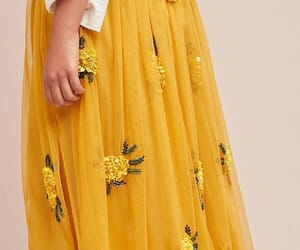 yellow, fashion, and skirt image