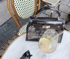bag, glass, and cafe image