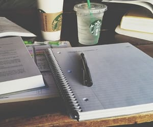 school, study, and starbucks image