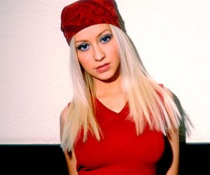 aguilera, fashion, and red image
