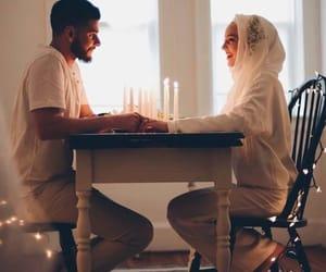 couple, muslim, and hijab image