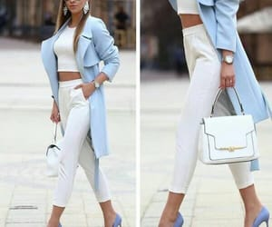 blue, fashion, and white image