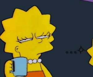 mood, simpsons, and coffee image