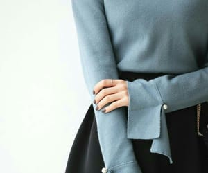 blouse, blue, and fashion image