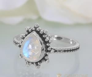 moonstone ring, moon jewelry, and gemstone rings image