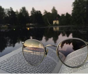 alone, glasses, and trees image