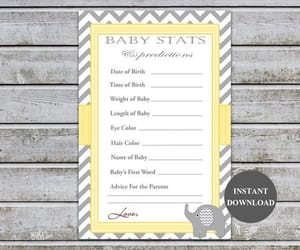 etsy, girl games, and baby shower games image