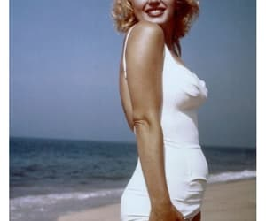 Marilyn Monroe, beautiful, and beach image