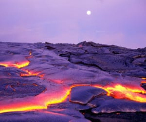 nature, lava, and volcano image