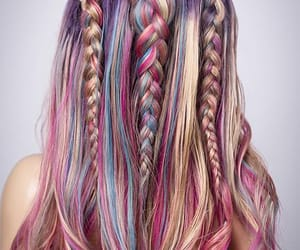 braid, colourful, and hair image