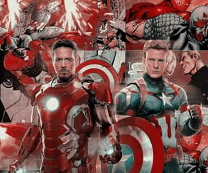 aesthetic, captain america, and iron man image