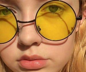 theme, yellow, and girl image