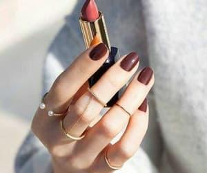 nails, fashion, and lipstick image