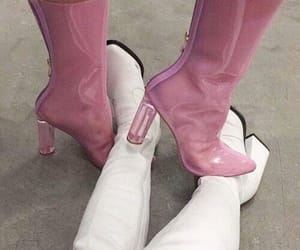 aesthetic, heels, and pink image