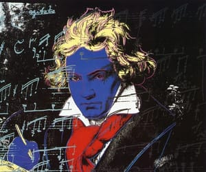 Beethoven, andy warhol, and art image