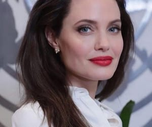 Angelina Jolie, beauty, and red lips image
