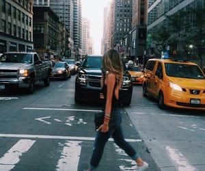 girl, city, and fashion image