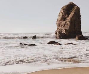 sea, beach, and landscape image