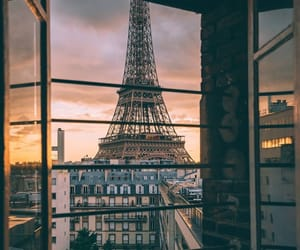 brown, wallpaper, and eiffel tower image