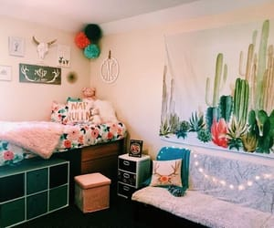 college, dorm room, and room decor image