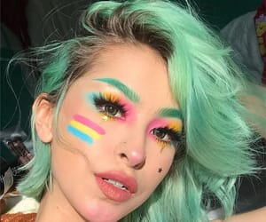colourful, makeup, and pan image
