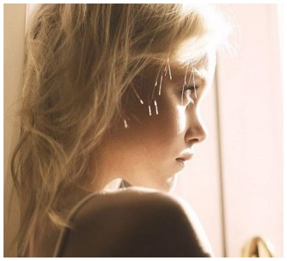 blonde, girl, and light image