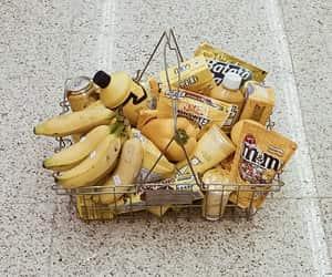 yellow, food, and banana image