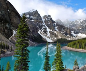 mountains, canada, and lake image
