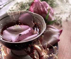 herbs, pink, and tea image