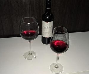 aesthetic, wine, and red image