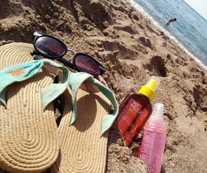 beach, sunglasses, and place image