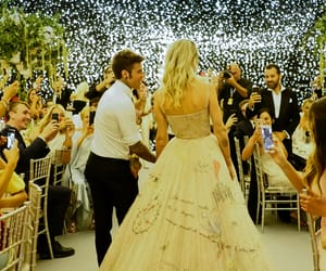 couples, wedding gown, and dior image
