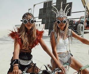 Burning Man, desert, and festival image