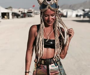 Burning Man, cyberpunk, and desert image