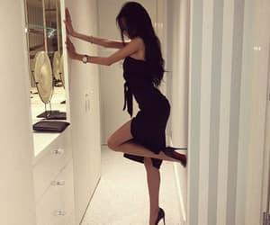 classy, dress, and black image