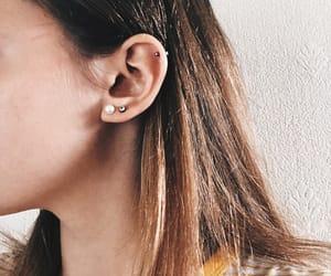 blonde, piercing, and earrings image