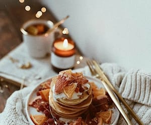candle, pancakes, and sweater image