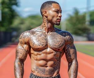 eyes, guys, and Tattoos image