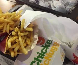 Chicken, chips, and fastfood image